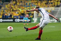 James Ward-Prowse of England  goes close from a free kick during Sweden Under-21 vs England Under-21, UEFA European Under-21 Championship Football at The Kolporter Arena on 16th June 2017