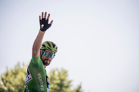 Green Jersey Peter Sagan (SVK/Bora-Hansgrohe) at the race start in front of the Arena in Nîmes<br /> <br /> Stage 16: Nîmes to Nîmes(177km)<br /> 106th Tour de France 2019 (2.UWT)<br /> <br /> ©kramon