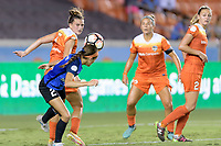 Houston, TX - Sunday August 13, 2017:  Cari Roccaro and Shea Groom during a regular season National Women's Soccer League (NWSL) match between the Houston Dash and FC Kansas City at BBVA Compass Stadium.