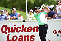 Bethesda, MD - July 2, 2017: Kyle Stanley hits off tee at the first hole during final round of professional play at the Quicken Loans National Tournament at TPC Potomac at Avenel Farm in Bethesda, MD.  (Photo by Phillip Peters/Media Images International)