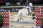 Jacqueline Lai of Hong Kong riding on  Der Senaat competes during the EEM Trophy, part of the Longines Masters of Hong Kong on 10 February 2017 at the Asia World Expo in Hong Kong, China. Photo by Weixiang Lim / Power Sport Images