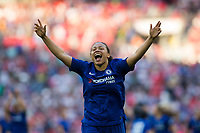 Drew Spence of Chelsea Ladies celebrates her side's victory <br /> <br /> Photographer Craig Mercer/CameraSport<br /> <br /> The SSE Women's FA Cup Final - Arsenal Women v Chelsea Ladies - Saturday 5th May 2018 - Wembley Stadium - London<br />  <br /> World Copyright &copy; 2018 CameraSport. All rights reserved. 43 Linden Ave. Countesthorpe. Leicester. England. LE8 5PG - Tel: +44 (0) 116 277 4147 - admin@camerasport.com - www.camerasport.com