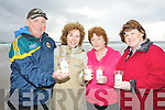 WAITING: Waiting for the whichle to blow to light their Candles of Celebration to raise funds for the Recovery Haven Killerisk, Tralee on Friday evening on Banna Strand L-r: Mike and Nora Walsh, mary Glavin and Bridie Byrne.
