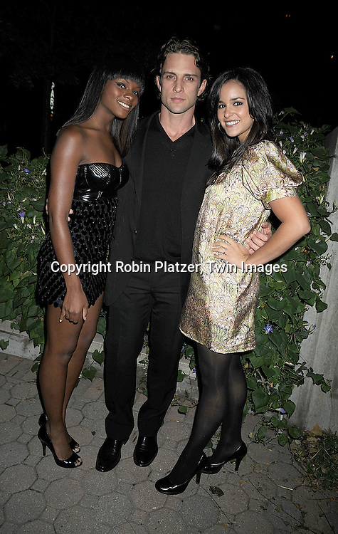 Tika Sumpter, David Fumero and wife Melissa Fumero..at The ABC Daytime Casino Event on October 23, 2008 at ..Guastavinos in New York City. ....Robin Platzer, Twin Images