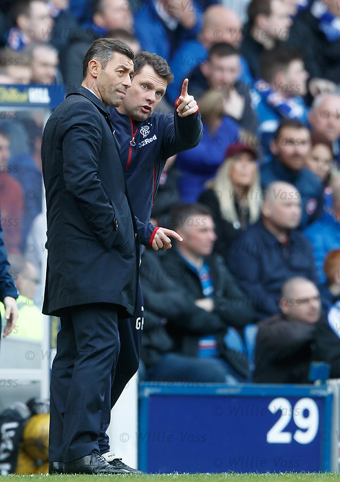 Rangers manager Pedro Caixinha and Graeme Murty
