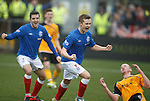 Robbie Crawford celebrates his goal for Rangers