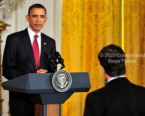 United States President Barack Obama and President Hu Jintao of China hold a joint press conference in the East Room of the White House during the State Visit honoring President Hu on Wednesday, January 19, 2011. .Credit: Ron Sachs / CNP.(RESTRICTION: NO New York or New Jersey Newspapers or newspapers within a 75 mile radius of New York City)