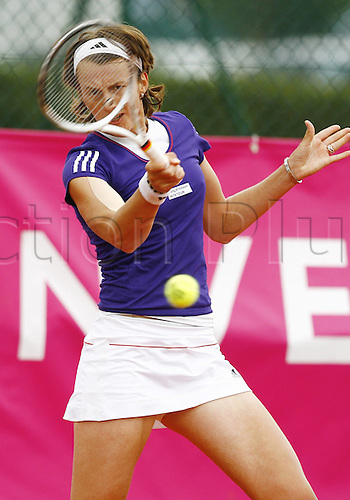 19 05 2010. WTA Womens Open Tennis Strasbourg France.   Kristina Barrois ger plays a forehand return