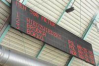 SCHAATSEN: HEERENVEEN: IJsstadion Thialf, 11-01-2013, Seizoen 2012-2013, Essent ISU EK allround, result 500m Men, Konrad Niedzwiedzki (POL), Zbigniew Brodka (POL), Håvard Bøkko (NOR), ©foto Martin de Jong