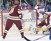 Brett Motherwell, Lowell ?, Elias Godoy, Cory Schneider - The University of Massachusetts-Lowell River Hawks defeated the Boston College Eagles 6-3 on Saturday, February 25, 2006, at the Paul E. Tsongas Arena in Lowell, MA.