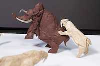 Saber-Toothed Cat and Mammoth designed and folded by William Hartman, Massachusetts, USA
