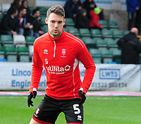Lincoln City's Jason Shackell during the pre-match warm-up<br /> <br /> Photographer Andrew Vaughan/CameraSport<br /> <br /> The EFL Sky Bet League Two - Lincoln City v Mansfield Town - Saturday 24th November 2018 - Sincil Bank - Lincoln<br /> <br /> World Copyright &copy; 2018 CameraSport. All rights reserved. 43 Linden Ave. Countesthorpe. Leicester. England. LE8 5PG - Tel: +44 (0) 116 277 4147 - admin@camerasport.com - www.camerasport.com