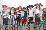 Young Pirates earn their sea legs at the Portmagee Sea Shanty Festival pictured here l-r; Fionn Houlihan, Grace Boland, Luis Diosee, Liam Conway, Naoise Sugrue & Kate Conway.