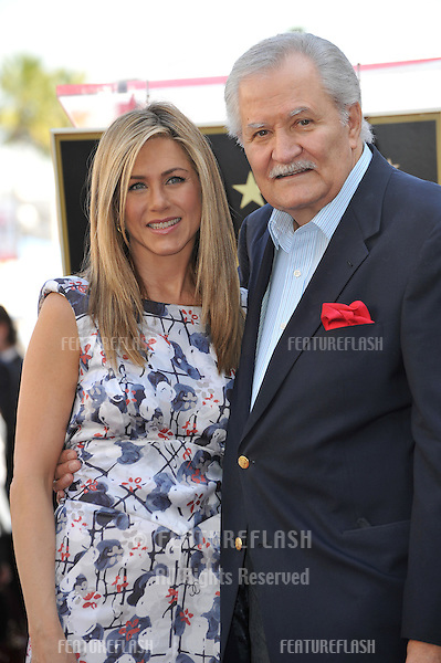 Jennifer Aniston & father John Aniston on Hollywood Boulevard where she was honored with the 2,462nd star on the Hollywood Walk of Fame..February 22, 2012  Los Angeles, CA.Picture: Paul Smith / Featureflash