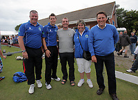 Pictured: Manager Brendan Rodgers (C) and Colin pascoe (R). Friday July 2011<br /> Re: Swansea City FC playing rugby at the Mumbles Cricket Club , fundraising for charity, near Swansea south Wales.