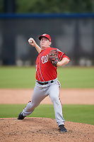 Washington Nationals pitcher Kyle Johnston (40) during a Minor League Spring Training game against the Miami Marlins on March 28, 2018 at FITTEAM Ballpark of the Palm Beaches in West Palm Beach, Florida.  (Mike Janes/Four Seam Images)