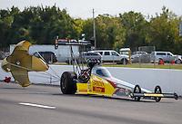 Sep 25, 2016; Madison, IL, USA; NHRA top fuel driver Shawn Langdon during the Midwest Nationals at Gateway Motorsports Park. Mandatory Credit: Mark J. Rebilas-USA TODAY Sports