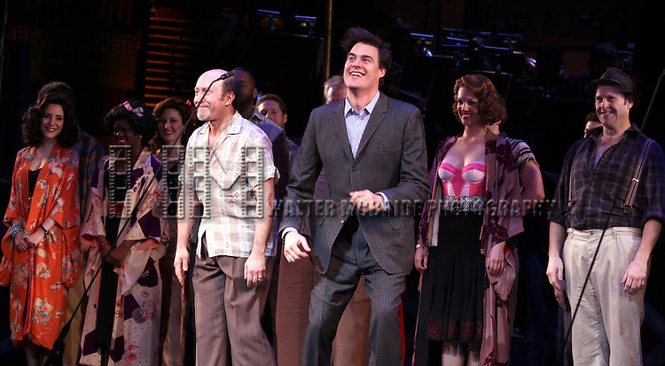 Steve Routman & James Clow.during the New York City Center Encores! 'Pipe Dream' Opening Night Curtain Call in New York City on 3/28/2012.