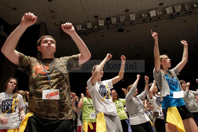 UK students participate in Dance Blue, a 24 hour dance marathon to raise money for children suffering from cancer. Photo by Scott Hannigan   Staff.