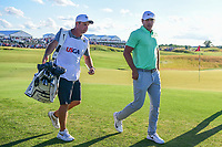 Brooks Koepka (USA) departs 18 following Sunday's round 4 of the 117th U.S. Open, at Erin Hills, Erin, Wisconsin. 6/18/2017.<br /> Picture: Golffile | Ken Murray<br /> <br /> <br /> All photo usage must carry mandatory copyright credit (&copy; Golffile | Ken Murray)