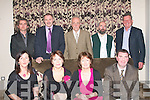 SOCIAL: Enjoying the Ballyfinnane residents and friends annual social in the Fels Point hotel, Tralee last Saturday night were front l-r: Marian Foley, Adah MacEnte, Carmel Daly and James Lynch. Back l-r: Maurice Galway, Seamus MacEnte, Michael O'Shea, Eamonn Fleming and Mike Daly.   Copyright Kerry's Eye 2008