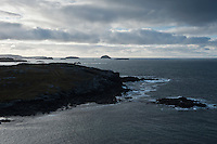 View of rugged Atlantic coast, Garenin, Isle of Lewis, Scotland