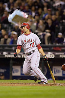September 24, 2008: Los Angeles Angels of Anaheim's Sean Rodriguez at-bat during a game against the Seattle Mariners at Safeco Field in Seattle, Washington.