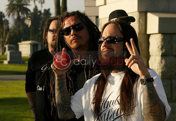 Korn<br />at a Press Conference to Announce their North America Tour. Hollywood Forever Cemetery, Hollywood, CA. 01-13-06<br />Jason Kirk/DailyCeleb.com 818-249-4998