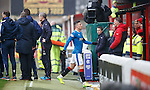 Michael O'Halloran walks off after his red card