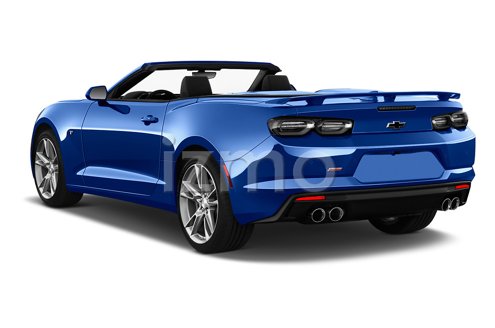 Car pictures of rear three quarter view of a 2019 Chevrolet Camaro 2SS 2 Door Convertible angular rear