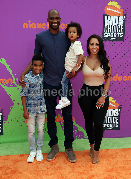 13 July 2017 - Los Angeles, California - Corey Brewer, Monique Mongalo. Nickelodeon Kids' Choice Sports Awards 2017 held at Pauley Pavilion. Photo Credit: F. Sadou/AdMedia