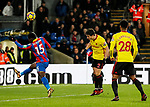Watford's Daryl Janmaat scoring his sides opening goal during the premier league match at Selhurst Park Stadium, London. Picture date 12th December 2017. Picture credit should read: David Klein/Sportimage
