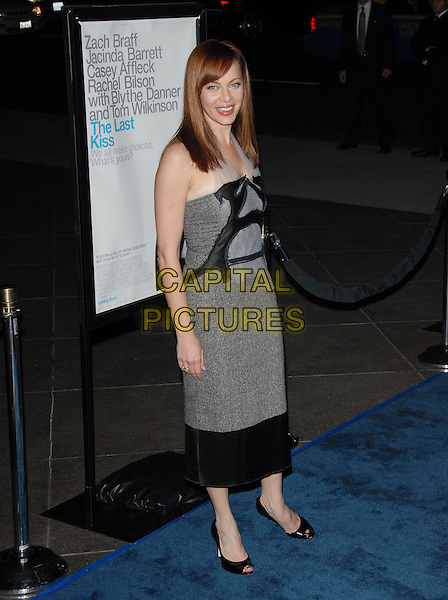 "MELINDA CLARKE.L.A. Premiere of ""The Last Kiss"" held at The DGA in West Hollywood, California, USA..September 13th, 2006.Ref: DVS.full length black grey gray dress.www.capitalpictures.com.sales@capitalpictures.com.©Debbie VanStory/Capital Pictures"