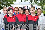 REGATTA: Liz Doyle, Finola Coffey, Catherine Cronin, Tina Healy, Shauna Doherty, Teresa Doyle and Deirdre.Cronin (all Fossa Rowing Club) who competed at the Killarney Regatta at OMahonys Point last Sunday.