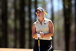 BROWNS SUMMIT, NC - APRIL 01: Wake Forest's Jennifer Kupcho waits on the 2nd hole. The second round of the Bryan National Collegiate Women's Golf Tournament was held on April 1, 2017, at the Bryan Park Champions Course in Browns Summit, NC.