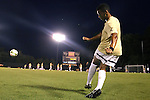 05 September 2014: Wake Forest's Jacori Hayes. The Wake Forest University Demon Deacons hosted the University of Connecticut Huskies at W. Dennie Spry Soccer Stadium in Winston-Salem, North Carolina in a 2014 NCAA Division I Men's Soccer match. Wake Forest won the game 2-1 in sudden death overtime.