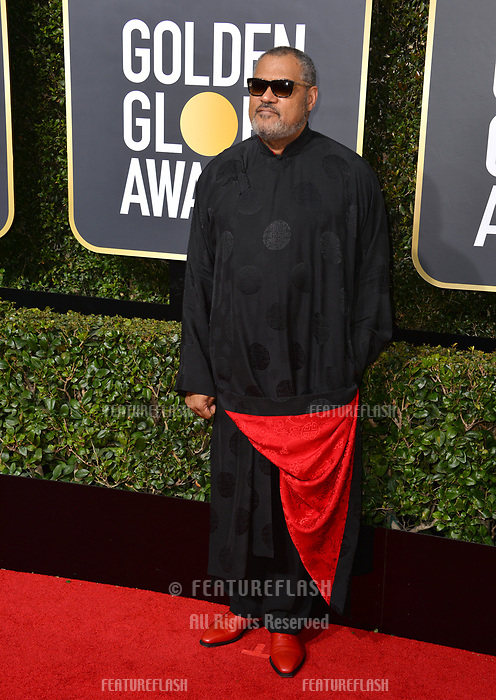 Laurence Fishburne at the 75th Annual Golden Globe Awards at the Beverly Hilton Hotel, Beverly Hills, USA 07 Jan. 2018<br /> Picture: Paul Smith/Featureflash/SilverHub 0208 004 5359 sales@silverhubmedia.com