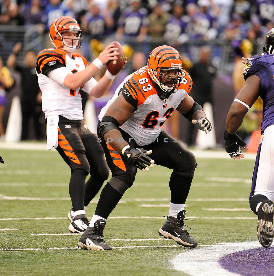 BOBBIE WILLIAMS, of the Cincinnati Bengals, in action during the Bengals game against the Baltimore Ravens on November 20, 2011 at M&T Bank Stadium in Baltimore, MD. Baltimore beat Cincinnati 31-24.