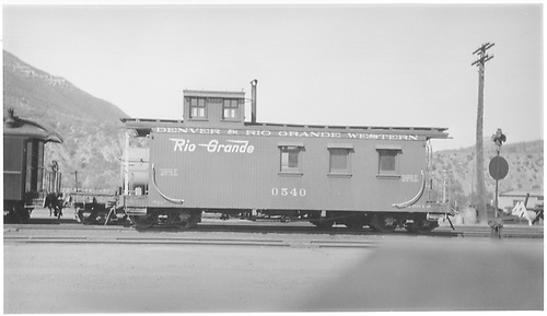Long caboose #0540.<br /> D&amp;RGW    1947-1949