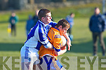 Templenoe's Dan Cahillane and Ballymac's Brendan O'Donell in action in the division 3 clash at Ballymac on Saturday.