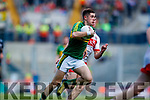 Donal O'Sullivan Kerry in action against Oran McGill Derry in the All-Ireland Minor Footballl Final in Croke Park on Sunday.