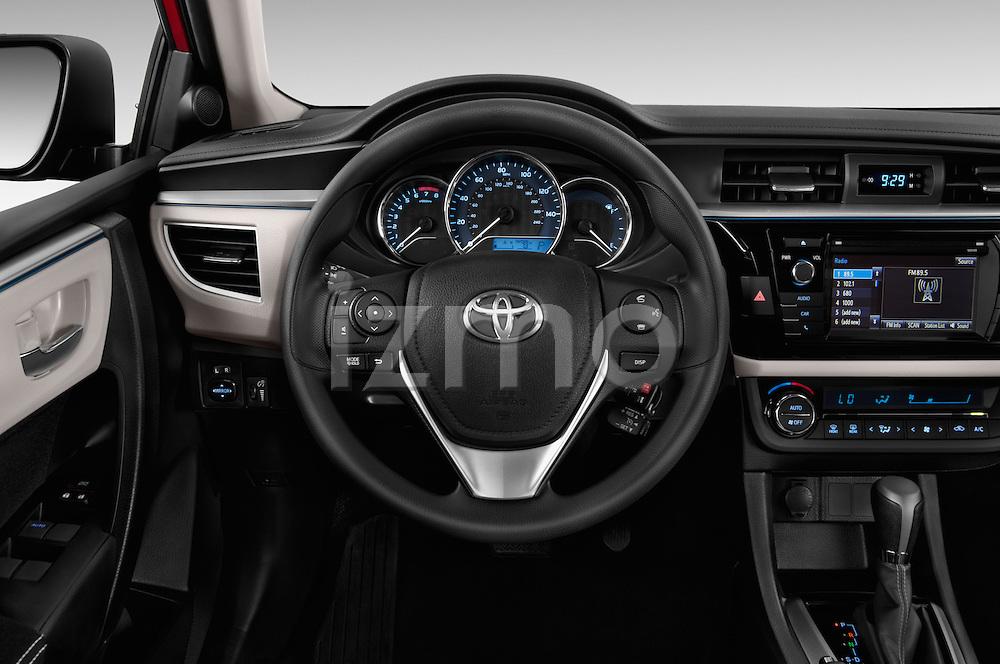 Car pictures of steering wheel view of a 2016 Toyota Corolla LE Plus 4 Door Sedan Steering Wheel