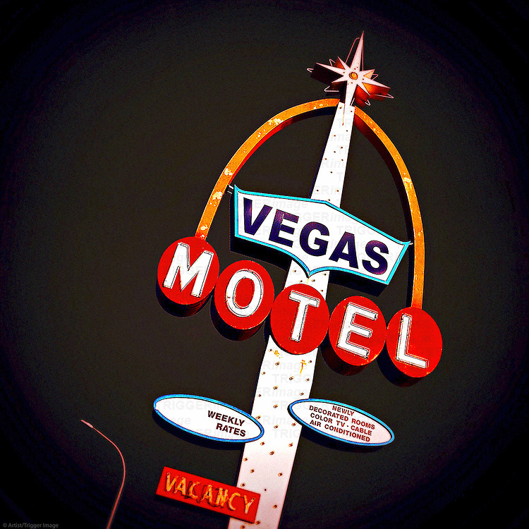 Old street signage in Las Vegas USA