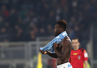 Football, Serie A: S.S. Lazio - Juventus Olympic stadium, Rome, December 7, 2019. <br /> Lazio's Felipe Caicedo celebrates after scoring during the Italian Serie A football match between S.S. Lazio and Juventus at Rome's Olympic stadium, Rome on December 7, 2019.<br /> UPDATE IMAGES PRESS/Isabella Bonotto