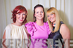 Celine Browne, Aisling Muldowney, Tracey Hurley, Tralee at the Rose of Tralee Fashion Show at the Dome on Sunday Night.