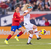 , FL - : Julie Ertz #8 of the United States dribbles during a game between  at  on ,  in , Florida.