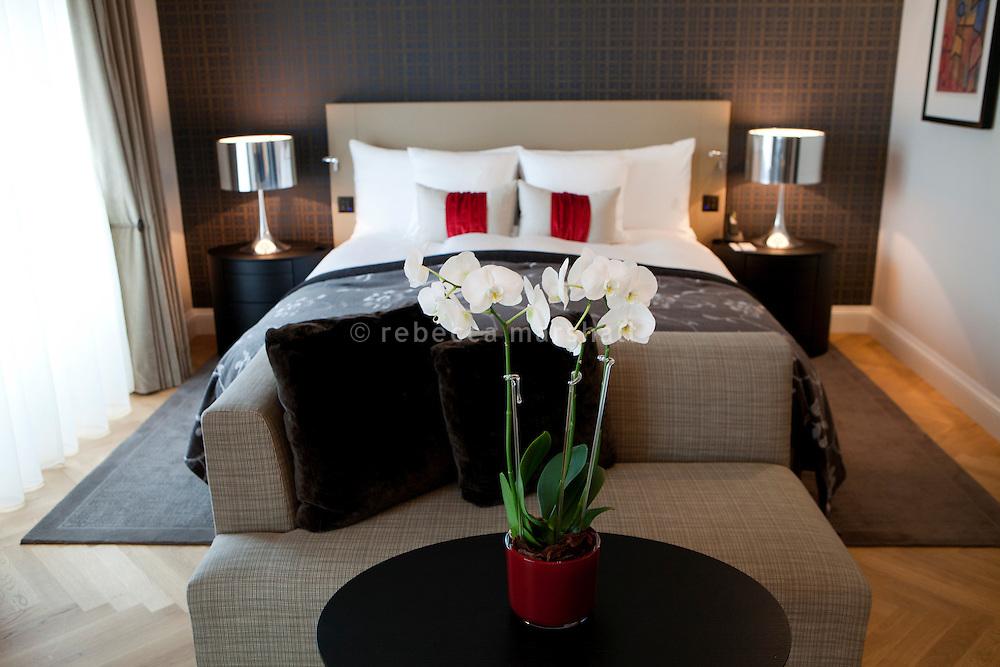 Bedroom at the Schweizerhof Hotel, Bahnhofplatz, Bern, Switzerland, 27 August 2011