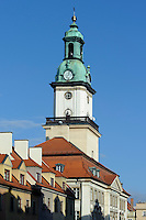 Rathaus in Jelenia Gora (Hirschberg), Woiwodschaft Niederschlesien (Wojew&oacute;dztwo dolnośląskie), Polen, Europa<br /> Town Hall in Jelenia Gora, Poland, Europe