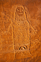 "Ute petroglyph , Utah, Proposed BLM Wilderness, Basketmaker Culture cliff dwellings  ""The Ute Witch""  Ancient Indian rock art"