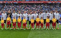 FUSSBALL FIFA Confed Cup 2017 VORRUNDE IN SOTCHI   Australien - Deutschland                           19.06.2017 Die Deutsche Nationalmannschaft nimmt vor dem Spiel Aufstellung